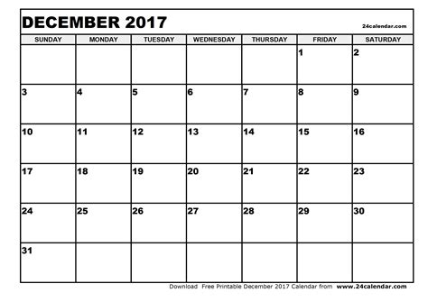 printable monthly calendar for december 2017 blank december 2017 calendar in printable format