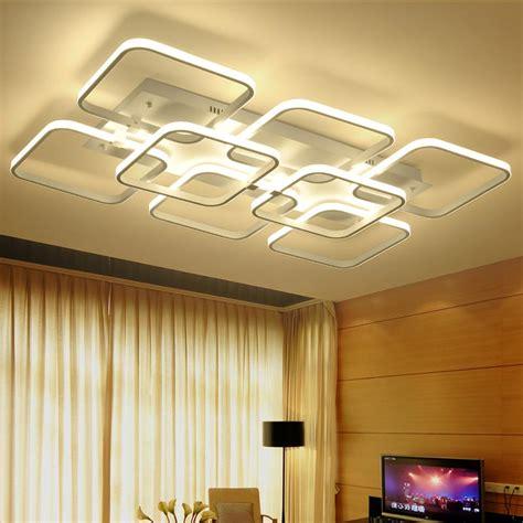 modern led ceiling light rectangle style acrylic shade