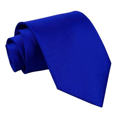 s plain royal blue satin tie