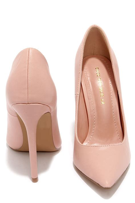 chagne color heels pretty pink pumps pointed pumps blush pink heels 34 00