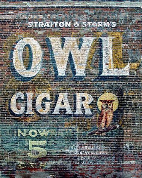 680 best vintage outdoor wall advertising art images owl cigar if you would like to order prints visit www road flickr