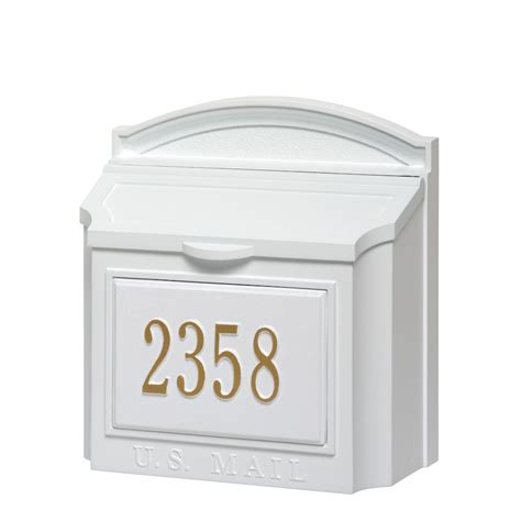 mailbox with whitehall products custom wall mount mailbox with