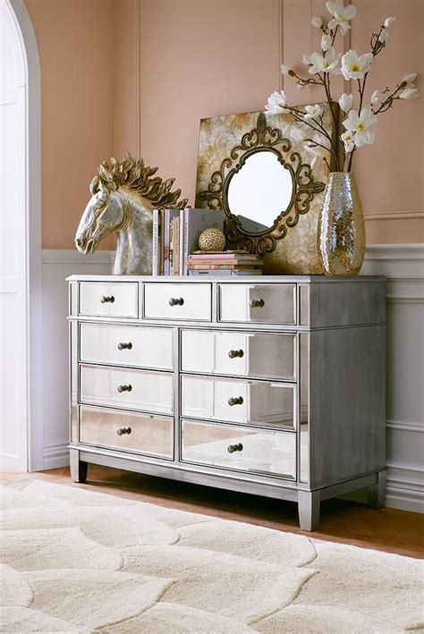 View In Gallery Interesting Details Onmirrored Dresser Dresser In Bedroom