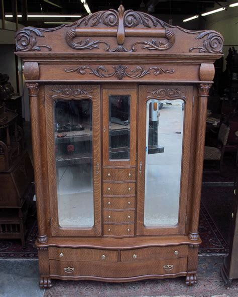 Lingere Armoire by Karges Quartersawn Oak Armoire With Center