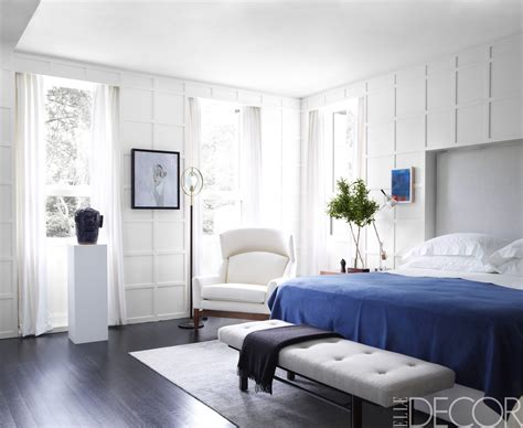 blue and white bedroom walls layering shades of white