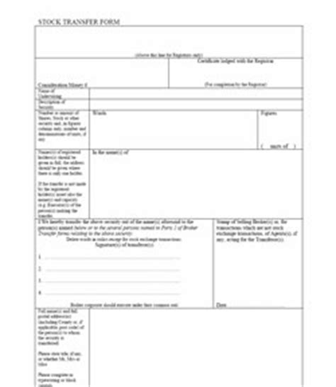 Transferring Shares Vs Issuing New Shares Stock Transfer Form Sh01 Assignment Of Shares Template