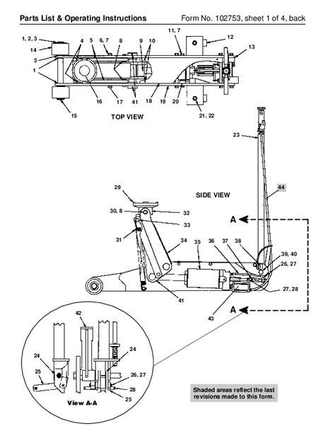 spx otc  air hydraulic floor service jack owners manual