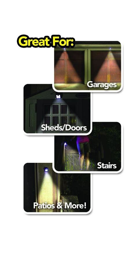 as seen on tv motion light ever brite outdoor motion activated solar power led light