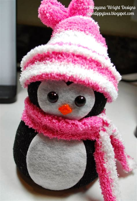 sock animals penguin sock snowmen animals zokni sock snowman