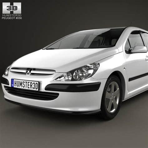 peugeot hatchback models peugeot 307 5 door hatchback 2001 3d model hum3d