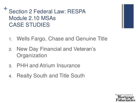 section 9 of respa 8 hour safe loan originator continuing ed 2016