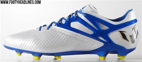 white adidas messi 2015 2016 boots released footy headlines