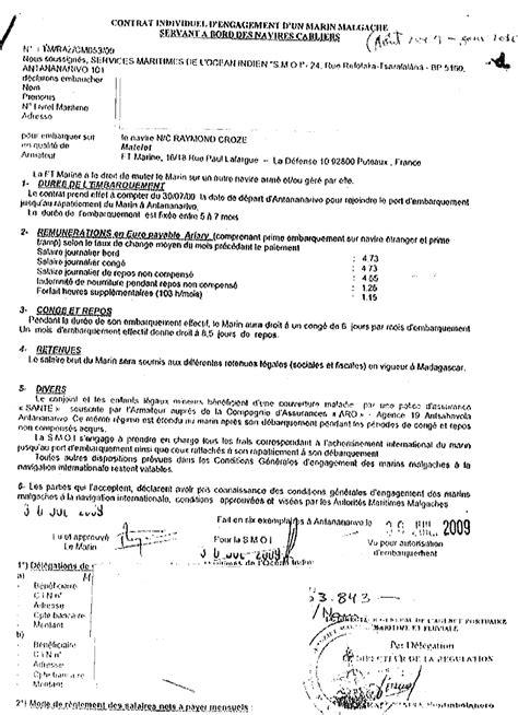 Exemple Lettre De Demission Transport Routier Contrat De Travail Chauffeur Routier Gratuit