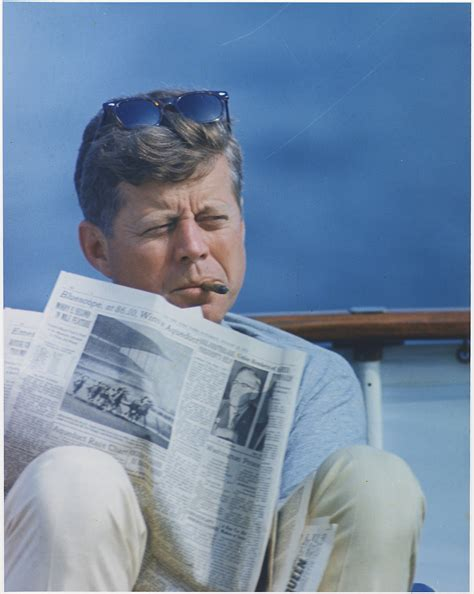president weekend file hyannisport weekend president kennedy with cigar and
