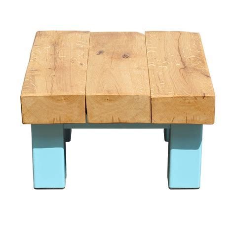 oak and iron small square coffee table by oak iron