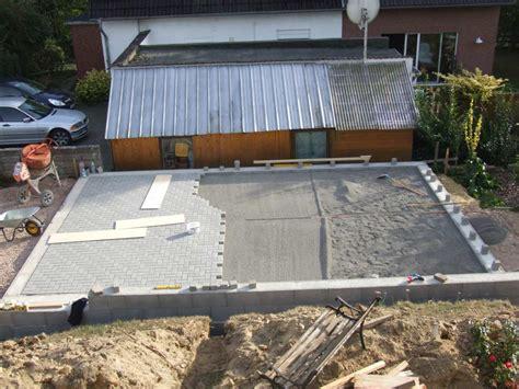 garage pflastern garagenbau 3 teil