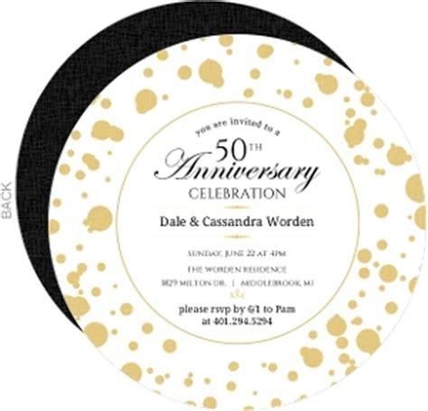 10th Wedding Anniversary Event Ideas by Cheap 50th Anniversary Invitations Invite Shop
