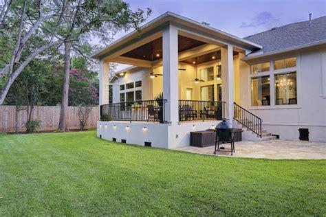 modern outdoor living  bellaire texas custom patios