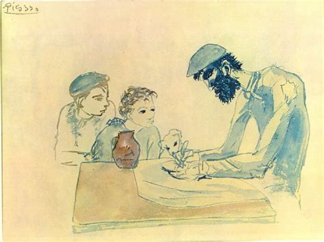 picasso s paintings watercolors drawings and sculpture a simple meal 1904 pablo picasso wikiart org
