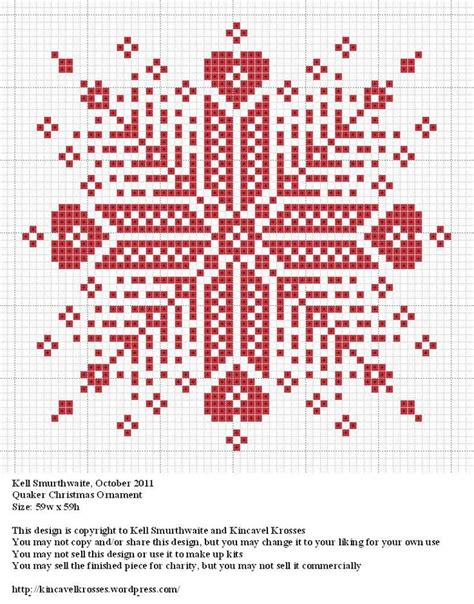 quaker christmas ornament cross stitch patterns pinterest