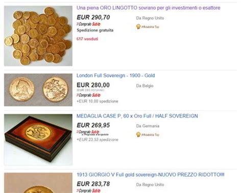 come comprare oro in come comprare monete d oro su ebay investire in oro