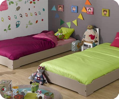 ma chambre d enfant com pack lit enfant empilable 90x190 cm avec sommier matelas