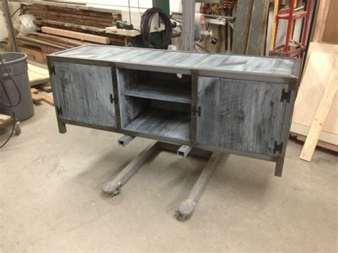 blue grey sofa table handmade industrial console table with blue washed pine by