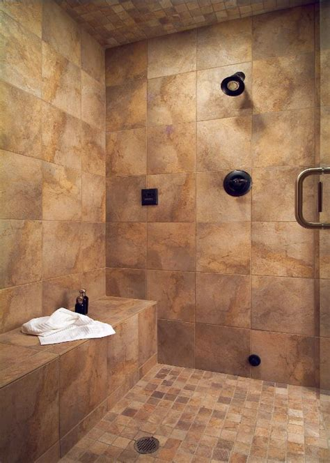 tile showers with bench large tile shower with bench bathrooms