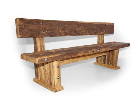 WIKINGER Sitzbank / Massivholzsitzbank mit Lehne 140 cm