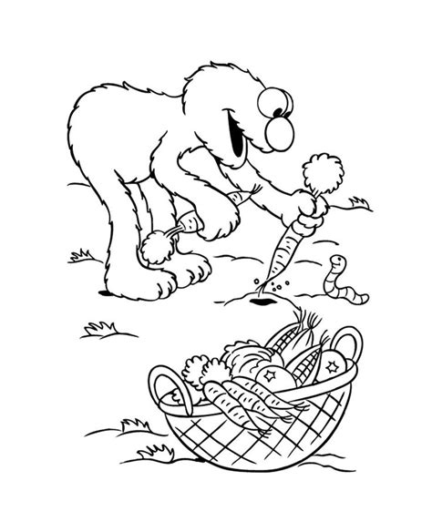 elmo fall coloring pages 24 best harvest vegetables images on pinterest