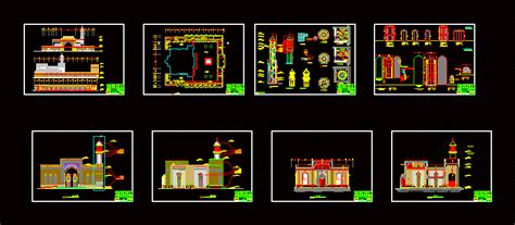 Retirement Home Design Plans mosque architectural plan in autocad drawing bibliocad