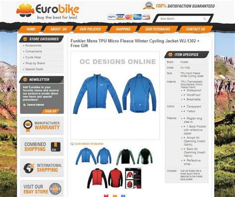 listing templates for ebay bike shops it s easy to get a custom ebay store design
