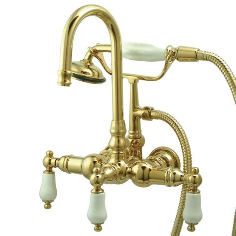 pegasus 3 handle claw foot tub faucet with style