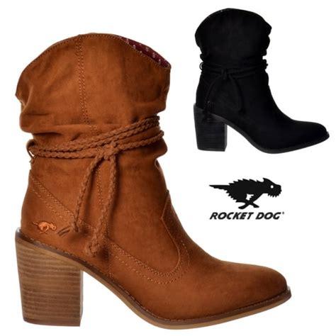 rocket deputy western ankle boot black cinnamon