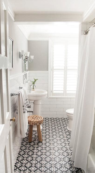bathroom with black and white tile floor paint color for bathroom with black and white tiles