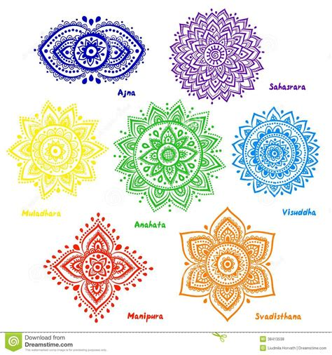 set of 7 chakras royalty free stock photos image 38413538