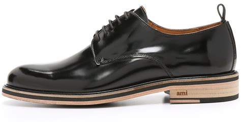 ami sneaker ami bicolor sole derby shoes in black for lyst