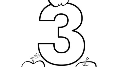 apple number coloring pages number series three grandparents com