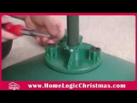 how to setup the home logic rotating christmas tree stand