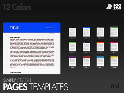 simply stylish pages templates for mac free download