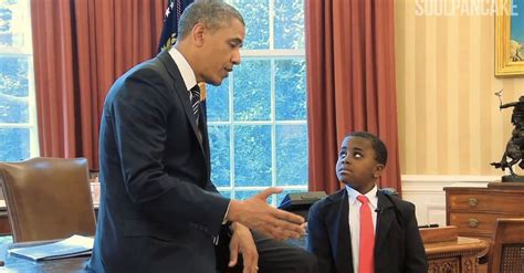 kid presidents heartwarming meeting  obama