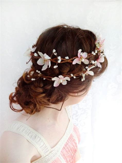 Wedding Hair Wreath Of Flowers by Pin By Stella Childs On Wedding Hair Ideas