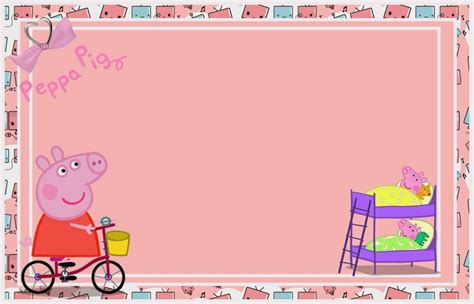 peppa pig birthday card template peppa pig free printable invitations labels or cards