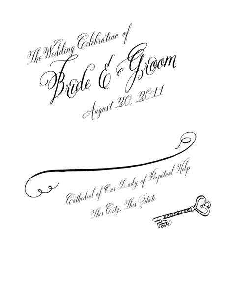 Wedding Program Clipart by Wedding Program Cover Clip