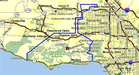 california map malibu maps of malibu