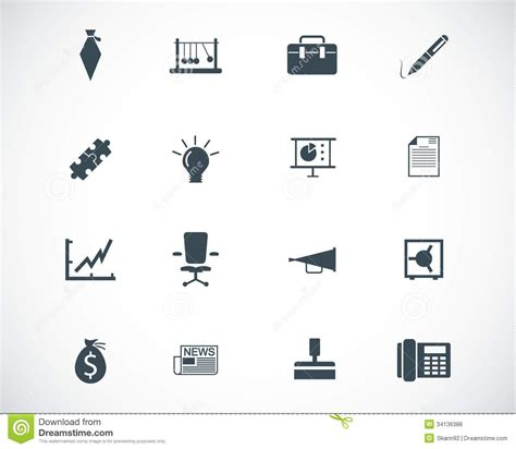 Vector Business Icons Set Royalty Free Stock Photos Image 1095468 Vector Black Business Icons Stock Illustration Image 34136388