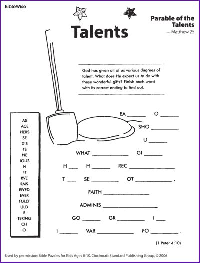free coloring pages of parable of the talents