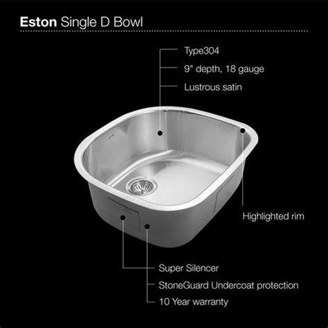 Kitchen Sink Sts Kitchen Sinks Ex Sts 1400 1 Undermount Single Bowl Kitchen Sink 23 7 16 W Premium Grade T