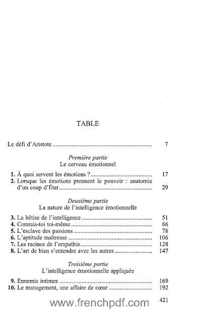 L'intelligence émotionnelle en PDF de Daniel Goleman