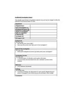 Hr Investigation Report Template by Hr Report Templates 8 Free Word Pdf Format